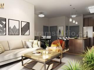 Salones de estilo  de Yantram Architectural Design Studio