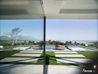 Vetrate Blindate per Villa: Porte di vetro in stile  di Ercole Srl