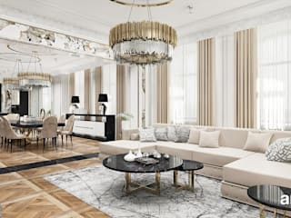 Salas / recibidores de estilo  por ARTDESIGN architektura wnętrz, Clásico