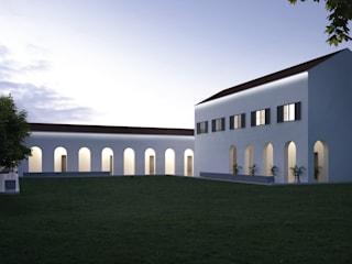 Cornicione sottogronda modulare con taglio di luce: Case in stile  di Eleni Lighting