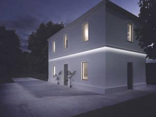 Marcapiano modulare con taglio di luce: Case in stile  di Eleni Lighting