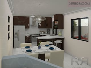 Modern kitchen by FR arquitectos Modern