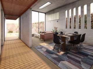 Axis House: Salas / recibidores de estilo  por DOGMA Architecture