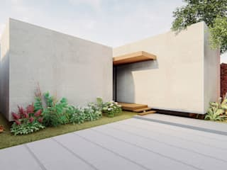 Axis House: Garajes y galpones de estilo  por DOGMA Architecture