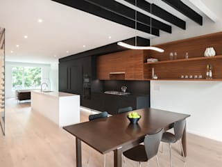 Black White Light KUBE architecture Modern Dining Room