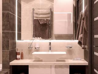 Salle de bain moderne par Студия интерьерного дизайна happy.design Moderne