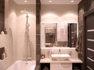 Baños modernos de Студия интерьерного дизайна happy.design Moderno
