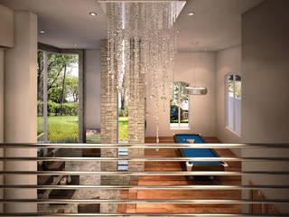 Casa LGO: Escaleras de estilo  por GOMEZ HIDALGO ARQUITECTOS
