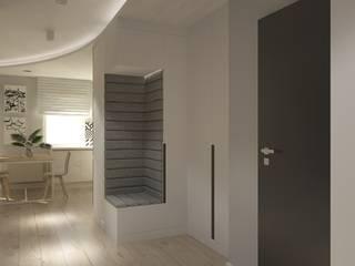 Kołacińska Nowoczesny korytarz, przedpokój i schody od Patryk Kowalski Architektura i projektowanie wnętrz Nowoczesny