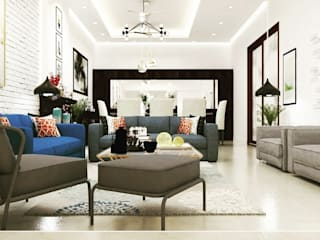 Renovation Eclectic style living room by Maayish Architects Eclectic