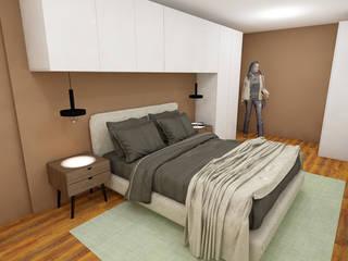 Projeto de Quarto de Casal por R&U ATELIER LDA Moderno