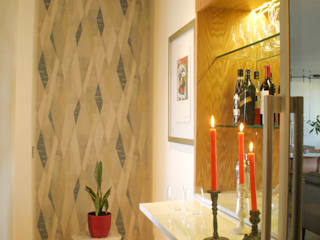 Diseño de Mueble Cava para Vinos y Licores de Moon Design Moderno