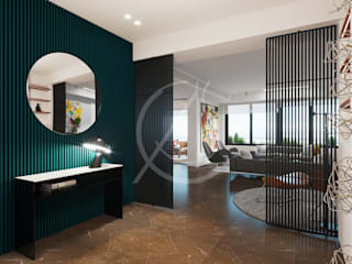 Modern Contemporary Apartment Interior Design:  Corridor & hallway by Comelite Architecture, Structure and Interior Design