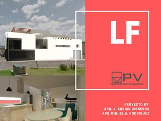 Casa LF:  de estilo  por PV Arquitectura,