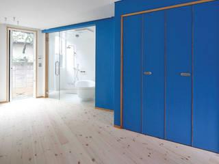 路地のような賃貸ルーム モダンスタイルの寝室 の 一級建築士事務所 感共ラボの森 モダン