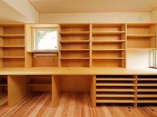 本の家 和風デザインの 書斎 の 一級建築士事務所 感共ラボの森 和風