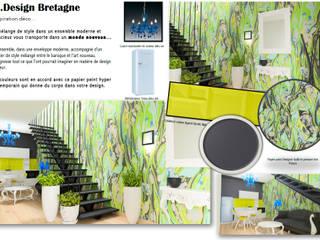 Un design intérieur insolite: Escalier de style  par D.DESIGN,