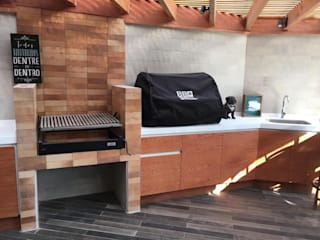 Mueble Inferior en MDP Balcones y terrazas rústicos de AUTANA estudio Rústico Ladrillos