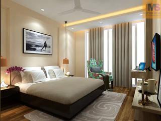 MASTER BEDROOM DESIGN (GURGAON):  Bedroom by Matter Of Space Pvt. Ltd.