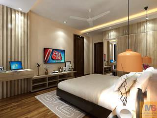 MASTER BEDROOM DESIGN (GURGAON):  Small bedroom by Matter Of Space Pvt. Ltd.