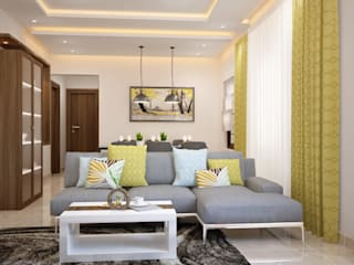 Scandinavian Mediterranean style living room by Space Clap Mediterranean