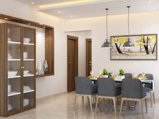 Scandinavian Mediterranean style dining room by Space Clap Mediterranean
