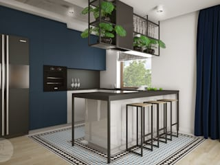 Industrial style kitchen by Nevi Studio Industrial