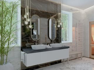 Minimalist style bathroom by студия Design3F Minimalist