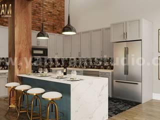 Cocinas de estilo  de Yantram Architectural Design Studio