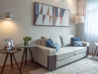 Sala de Estar AF - Curitiba/PR: Salas de estar  por Déco&Co. Arquitetura ,Moderno