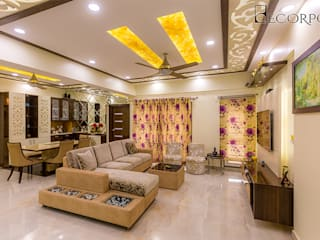 Interior Designers in HSR Layout Bangalore | Best Interior Design Firm HSR Layout | Decorpot:  Corridor & hallway by Decorpot,