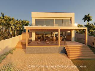 Diseño de Cabaña NAVARINO en el balneario Guanaqueros en Coquimbo de Territorio Arquitectura y Construccion - La Serena Moderno