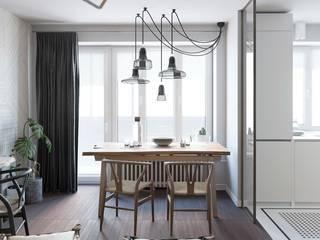 Scandinavian style dining room by J.Lykasova Scandinavian