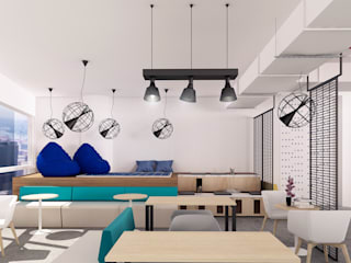 Co working Space Design:  Commercial Spaces by Manali Sutaria, Industrial