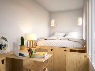 Classic style bedroom by Piedra Papel Tijera Interiorismo Classic
