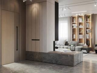 Suiten7 Minimalistischer Flur, Diele & Treppenhaus Weiß