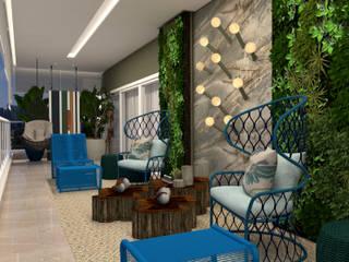 Varanda da Família: Varandas  por Camila Machado Arquitetura e Interiores,Moderno