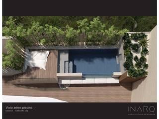DISEÑO DE REFORMA DE VIVIENDA UNIFAMILIAR EN SANTA BRÍGIDA : Piscinas de jardín de estilo  de INARQ Espacio, Moderno