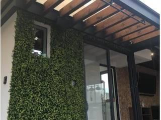 PROYECTO Y CONSTRUCCIÓN DE ROOFTOP DEL VALLE. Balcones y terrazas modernos de Tk arquitectura Moderno