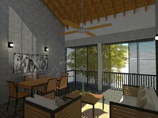 Vivienda Bifamiliar Jamundí, Valle del cauca: Casas multifamiliares de estilo  por Rojas Arquitectos,