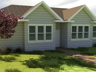 Diseño De Casa: Casas unifamiliares de estilo  por CEC Espinoza y Canales LTDA
