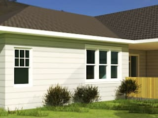 Diseño Vivienda 1 planta 196 M2 Casas estilo moderno: ideas, arquitectura e imágenes de CEC Espinoza y Canales LTDA Moderno