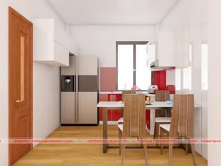 Mẫu tủ bếp chữ U hiện đại cho chung cư cao cấp bởi Nội thất Nguyễn Kim