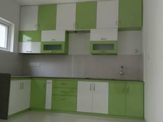 3BHK Flat :  Kitchen by SP Interiors,
