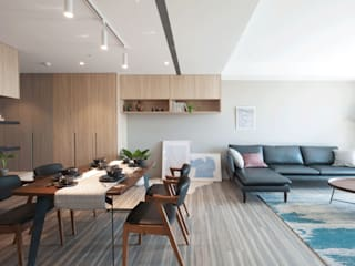 鈊楹室內裝修設計股份有限公司 Ruang Keluarga Tropis