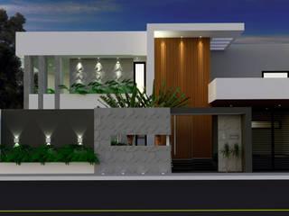 CASA ALTO PADRÃO: Casas familiares  por Daiana Pasqualon Arquitetura & Lighting
