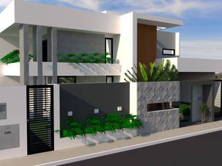 CASA ALTO PADRÃO: Casas  por Daiana Pasqualon Arquitetura & Lighting