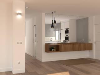 Modern corridor, hallway & stairs by arQmonia estudio, Arquitectos de interior, Asturias Modern