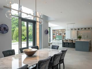 New Build Home in Hertfordshire:  Living room by MB Master Builders Ltd.