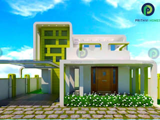 Asian corridor, hallway & stairs by Prithvi Homes Asian